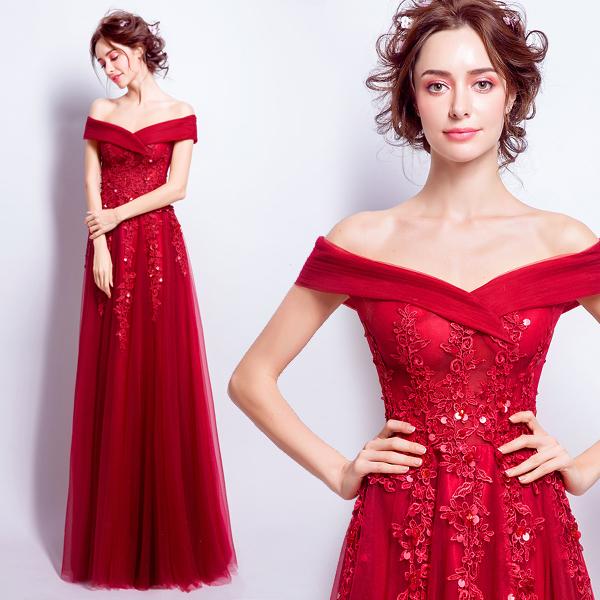 gaun 0265 gaun pesta merah 1bbbf 3104 1241